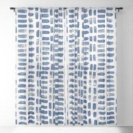 Abstract rectangles - indigo Sheer Curtain