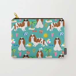 Cavalier King Charles Spaniel beach day tropical vacation socal sunshine Carry-All Pouch