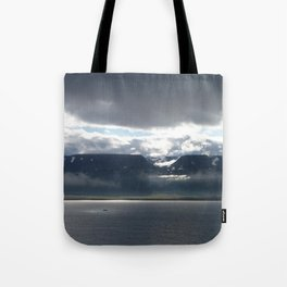 Sun on an Icelandic Fjord Tote Bag