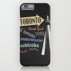 Toronto Tourism Poster iPhone 6s Slim Case