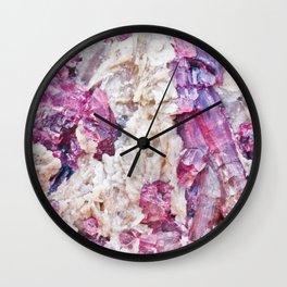 Magical pink crystal - gemstones, photography #Society6 Wall Clock