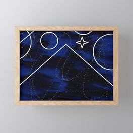 Space Pyramid Framed Mini Art Print