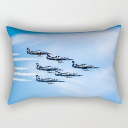 Breitling Jets In Formation Rectangular Pillow