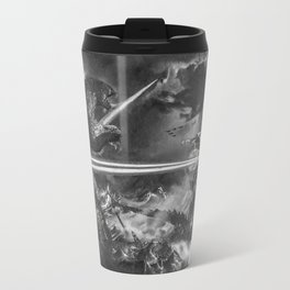 Godzilla versus Earth's Mightiest Heroes - - By Julio Lucas Travel Mug