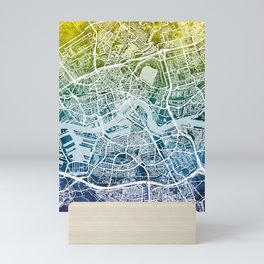 Rotterdam Netherlands City Map Mini Art Print