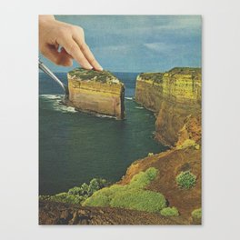 Serving up cake by the seaside Canvas Print