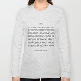 Life quote F. Scott Fitzgerald Long Sleeve T-shirt