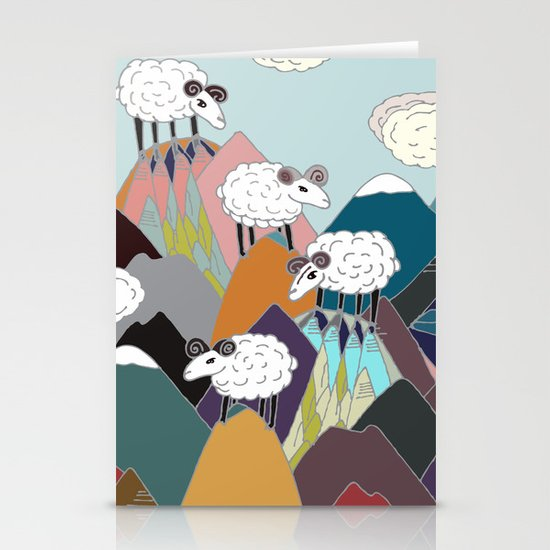 Clouds and Sheep Stationery Cards