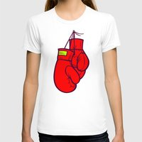 boxing T-shirts featuring Boxing Gloves by Artistic Dyslexia