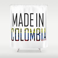 colombia Shower Curtains featuring Made In Colombia by VirgoSpice