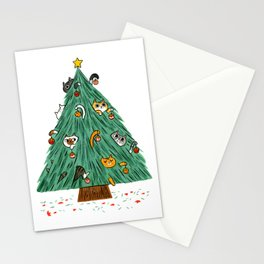 A messy Holiday Stationery Cards