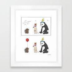 Everybody Deserves a Balloon Hat  Framed Art Print