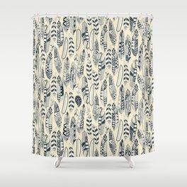 joyful feathers cream Shower Curtain