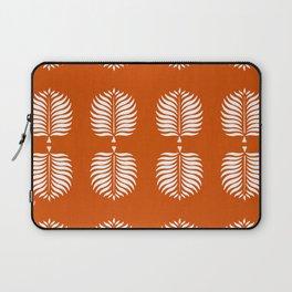 TROPICAL PALMS . ORANGE + WHITE Laptop Sleeve