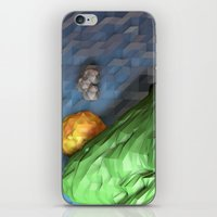 low poly iPhone & iPod Skins featuring Low Poly Sunset by cnrgrn