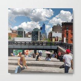 New York: High Line Metal Print