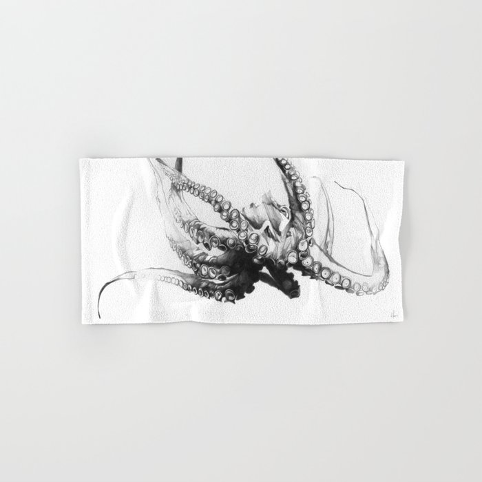 Octopus Rubescens Hand & Bath Towel