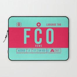 Luggage Tag B - FCO Rome Fiumicino Italy Laptop Sleeve