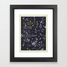 Sun Print - Be Yourself Framed Art Print