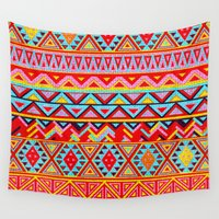 mexican Wall Tapestries featuring India Style Pattern (Multicolor) by Diego Tirigall