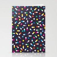 pills Stationery Cards featuring Pills by Alisha Jensen