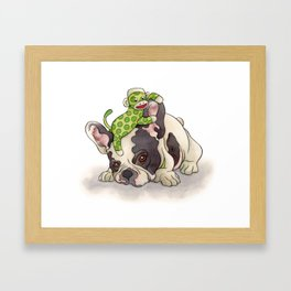 Pouting Bubba Framed Art Print