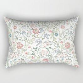 William Morris Pastel Floral Vine Pattern Rectangular Pillow