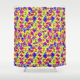 Multicolored Linear Pattern Design Shower Curtain