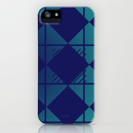 Blue,Diamond Shapes,Square iPhone Case