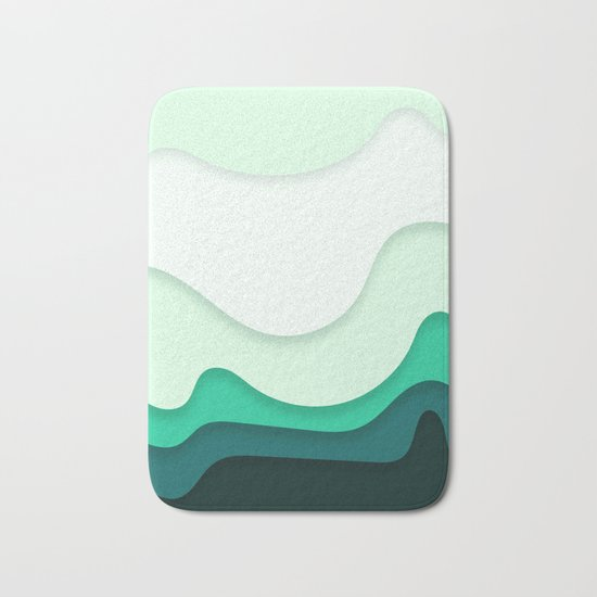 Pastel Waves Bath Mat