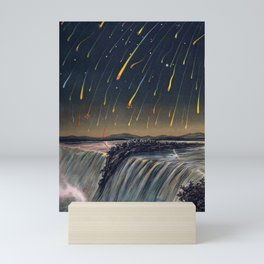 The Leonid meteor showers of 1833 over Niagara Falls by Edmund Weiss Mini Art Print