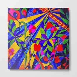 dancing garden in multicolor Metal Print