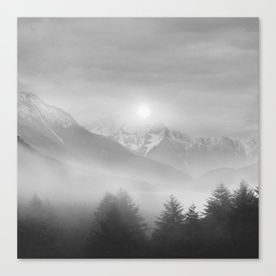 Pastel vibes 11 Black and White Canvas Print