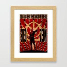 Sieg Zeon Framed Art Print
