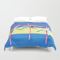 palms Duvet Covers featuring Palms  by Kelsey Witt