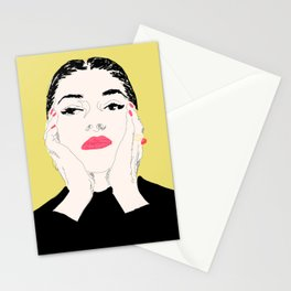 Pop Maria Callas - Yellow Stationery Cards