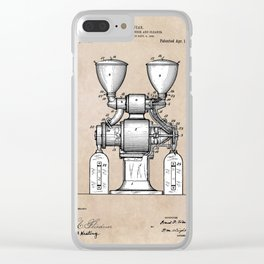 patent art Wear Combined Coffee grinder and cleaner 1911 Clear iPhone Case