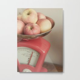 Apples In Scales Still Life Metal Print