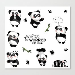 Wilfred the Worried Panda Canvas Print