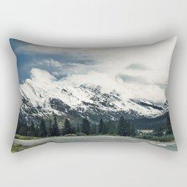Snow Top Mountain Photography from the Canadian Rockies Rectangular Pillow