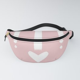 Heart Strings - Blush Pink and White Fanny Pack