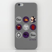 regina mills iPhone & iPod Skins featuring Once Upon A Time, Regina Mills by Your Friend Elle
