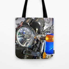 Headlight of road motorcycle bike classic Tote Bag