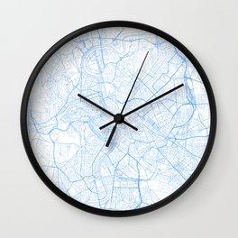 Rome. Blue Period Wall Clock