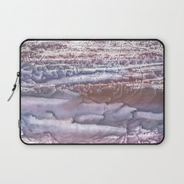Violet brown hand-drawn wash drawing Laptop Sleeve