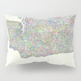 Washington map Pillow Sham