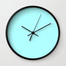 Celeste Cyan Wall Clock