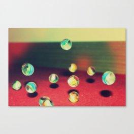 Retro Marbles Canvas Print