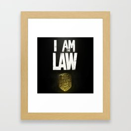 I Am the Law - Judge Dredd Framed Art Print