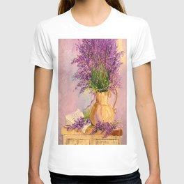 A bouquet of lavender T-shirt
